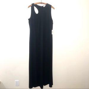 Calvin Klein Black Evening Dress Cutout Shoulder